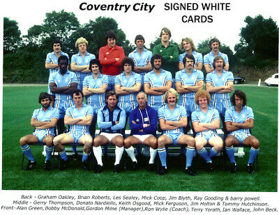 £5.99 • Buy Coventry City Fc Autographs Signed White Cards From 1970's-90's