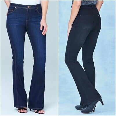 Simply Be Ladies Womens Eve Bootcut Stretch Denim Mid Rise Jeans Size 10 12 14 • 12.99£