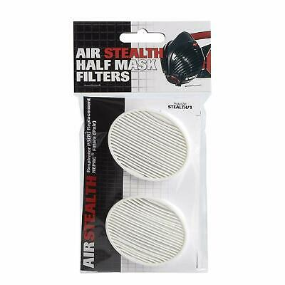 Trend STEALTH/1 Air Stealth Respiration Half Mask P3(R) HEPAC Filters PACK OF 2 • 12.90£