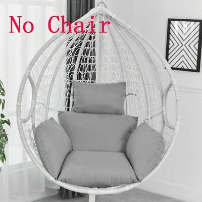 Swing Hanging Egg Rattan Chair Outdoor Garden Patio Hammock Stand Porch Cushions • 32.20£