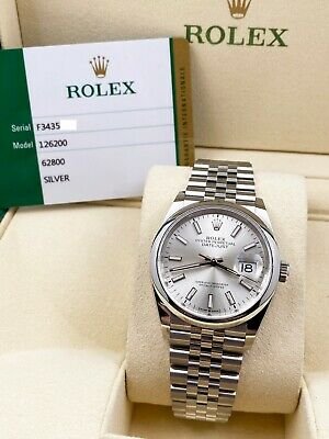 $ CDN10633.43 • Buy BRAND NEW Rolex Datejust 126200 Silver Dial Stainless Steel Box Papers