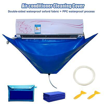 AU27.64 • Buy Air Conditioner Waterproof Cleaning Cover Dust Washing Clean Protector Bag +Pipe