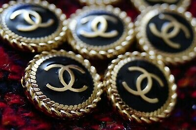 STAMPED VINTAGE CHANEL BUTTONS LOT OF 10 Ten • 81.68£