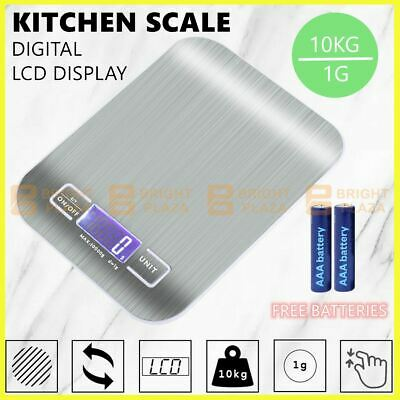 AU19.95 • Buy 10kg Electronic Digital Kitchen Scale Kitchen Food Weighing Weight Postal Scales