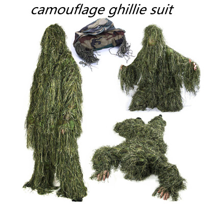 £35.35 • Buy 3D Camouflage Ghillie Suit Adults Military Woodland Hunting CS Game Tactical Set
