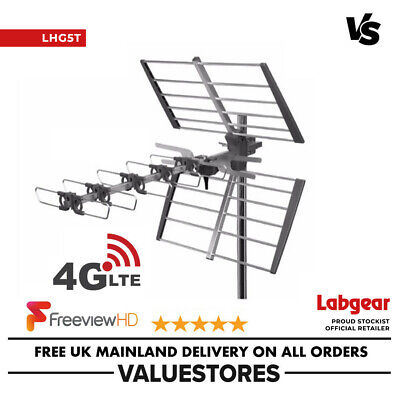 Labgear LHG5T High Gain TV Outdoor Aerial For Digital TV Freeview HD LTE 4G • 19.99£