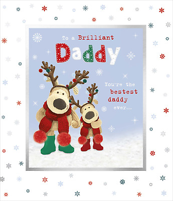 Christmas Card Daddy - Boofle Dad With Antlers & Boofle Child With Antlers • 3.50£