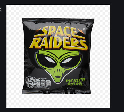 24 Single Pks Pickled Onion Space Raiders 11.8g Bag Only 58 Cal Per Pack • 7.99£
