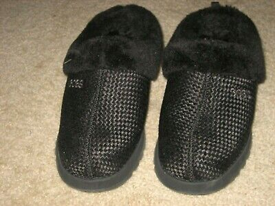 Bobs Slippers By Skechers NEW W/tag Black Ladies Size 8 Memory Foam Fur Lined • 21.67£