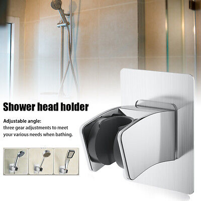 Shower Head Holder Adjustable Angle Non-Slip RV Parts ABS Wall Mounted Seamless • 5.79£