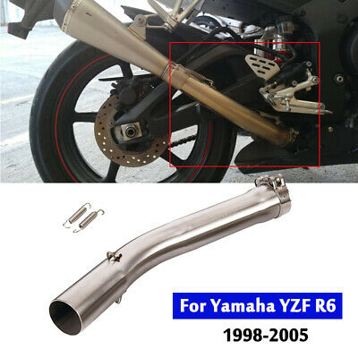 $55.80 • Buy For Yamaha YZF R6 1998-2005 Exhaust Mid Pipe Slip On System 51mm Connecting Tube
