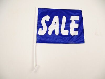 (24) Blue & White Sale Car Window Dealership Advertising Flags (USA SELLER) • 108.18£