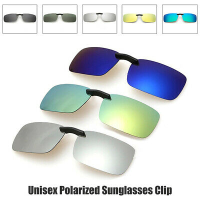 AU12.39 • Buy Hot Mens UV400 Sunglasses Polarized Clip On Driving Glasses Day Night Vision Len