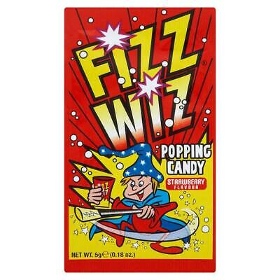 Retro Sweets FIZZ WIZ STRAWBERRY POPPING CANDY Space Dust Ideal For Party Bags   • 0.99£