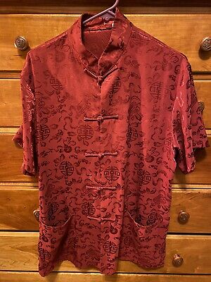 $13.99 • Buy Authentic Chinese Tang Suit Red Embossed