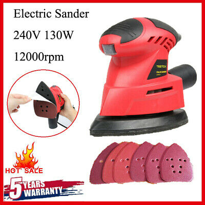 Mini Electric Detail Sander Grinding Polishing Sanding Machine Woodworking Tool • 16.90£