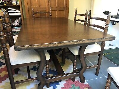 Younger Toledo Retro 1970s Extending Dining Table And 6 Chairs - Chestnut & Ash • 100£