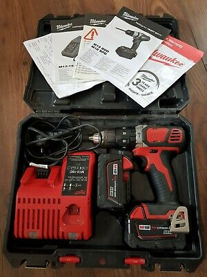 Milwaukee M18 18V Drill With 2 X 3.0ah Lithium Ion Battery+charger And Case • 74£
