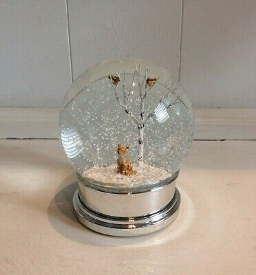 Heaven Sends Fox Robins Snow Globe 11.5cm  • 23.95£