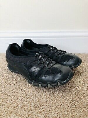 SKETCHERS Women Size UK 4 EUR 37 Black Casual Walking Trainers Shoes Lightweight • 23.99£