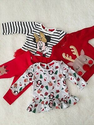Baby Girls Christmas Outfit Bundle 0-3 Months  • 6£