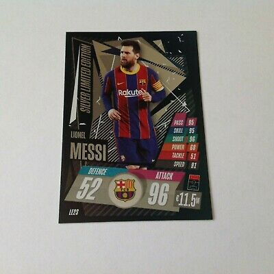 Match Attax  2020/21 Silver  Messi Barcelona  Free Post • 2.99£
