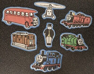 Vintage Thomas The Tank Engine Fabric 7 X Pieces Appliqué Patches Characters • 4.99£