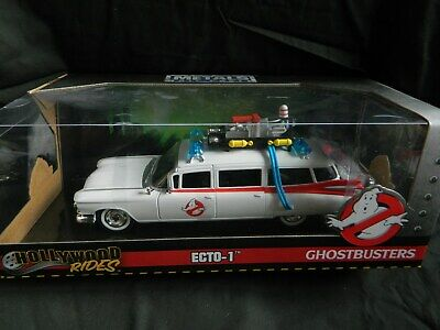 Boxed New Hollywood Rides 1:24 Ghostbusters Ecto-1 Die Cast Metal Model Vehicle  • 35£