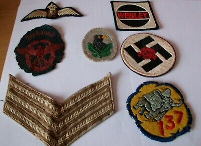 WW2 Sew On Badges (Patches) X7 • 10£