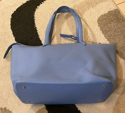 Smythson Of Bond Street Light Blue Large Leather Bag 20 X 19 Inches  • 275£