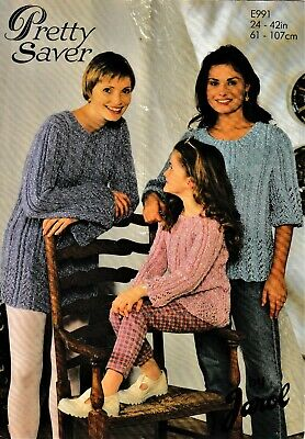 Vtg Jarol Knitting Pattern,girls'/ladies' Dk Tunics,lace Detail,chest/bust24-42  • 2.25£