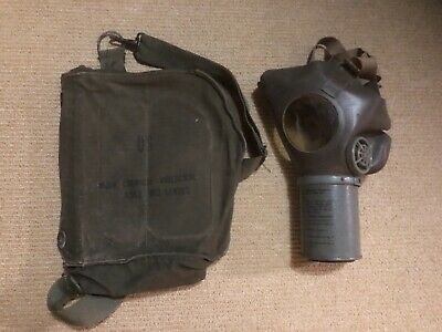 $30 • Buy WW2 (?) Vintage Gas Mask Protective Field M17 Chemical Biological Canvas Bag