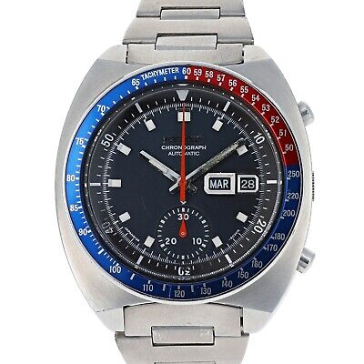 $ CDN2183.67 • Buy Seiko 6139-6002 Pogue AH001M -6030R Blue Automatic Chronograph 1979 Steel 41 Mm