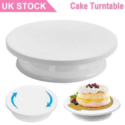 Rotating Cake Turntable Icing Decorating Revolving Kitchen Display Stand UK • 4.20£