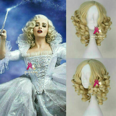 Fabulous Blonde Curly Cinderella Fairy Godmother Cosplay Party Wig Hair • 17.99£