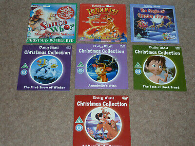 7 X DAILY MAIL CHILDRENS CHRISTMAS COLLECTION PROMO DVD's • 2.99£