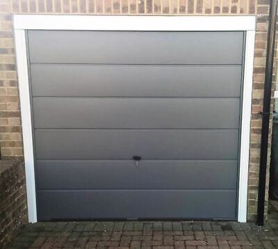 Up And Over Garage Door Cardale Novoferm Haven Wide Ribbed White BRAND NEW • 280£