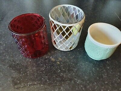 3x Official Yankee Candle Votive Candle Holders New Stocking Filler Teacher Gift • 6.99£