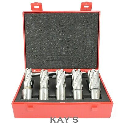 £66.95 • Buy ROTABROACH MAGNETIC DRILL HOLE CUTTERS 7 PCE SET 14/16/18/20/22mm + 2 PILOTS  R2