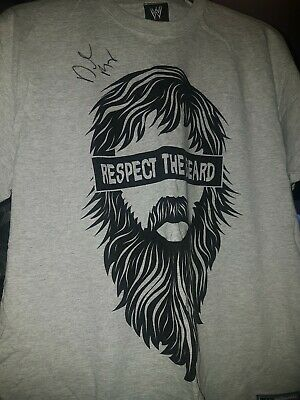 WWE/WWF Daniel Bryan Autographed Respect The Beard XL Shirt Extra Large Yes • 30£
