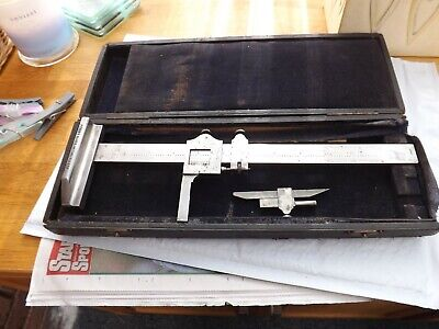 Used Engineering  Brown & Sharpe 585 Vernier Height Gauge 12  Collection Only • 49.99£
