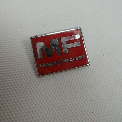Massey Ferguson Tractors Vintage Small Square Metal Red Enamel Pin Badge • 19.99£