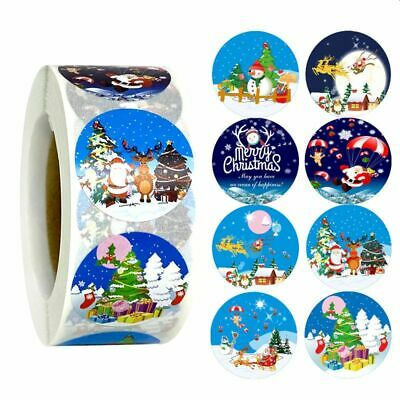 Christmas Stickers 25mm Labels Round Gift Seal Love Santa Snow Tree Party Xmas • 1.89£