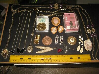 $ CDN13.08 • Buy Vintage Costume Jewelry Lot,necklaces,lockets,earrings,Sarah Coventry,Avon,token