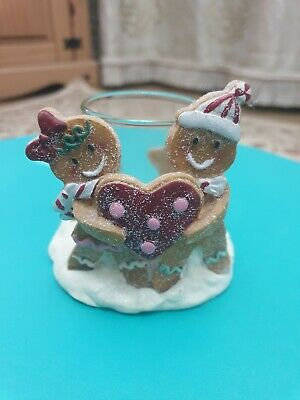 Christmas Yankee Candle Gingerbread Man Votive Holder Hearts/Cookies • 9.99£
