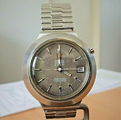 AU660 • Buy RARE! Vintage SS Omega F300  Cone  Seamaster Chronometer Tuning Fork Watch