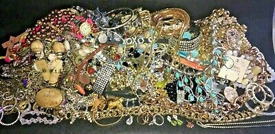 $ CDN16.97 • Buy Unsearched Jewelry Vintage Modern Big Lot Junk Craft Box FULL POUNDS Pieces Part