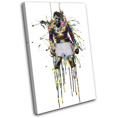 £15.99 • Buy Muhammad Ali Boxing Colourful Sports SINGLE CANVAS WALL ART Picture Print