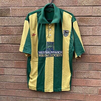 West Bromwich Albion 2001 2003 Away Shirt RARE Green And Yellow (38/40in) • 20£