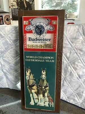 $ CDN653.32 • Buy Budweiser Beer Clydesdale Clock Sign Vintage Works